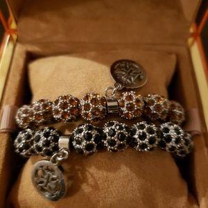 BRAND NEW Tory Burch ALL crystal bracelets.